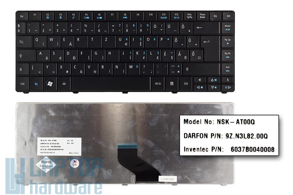 Acer Travelmate 8371, 8471, 8472 gyári új magyar matt fekete laptop billentyűzet (NSK-AT00Q)