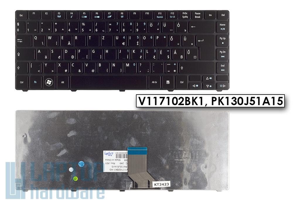 Acer Travelmate 8481 TimelineX 8481T gyári új magyar fekete laptop billentyűzet, V117102BK1