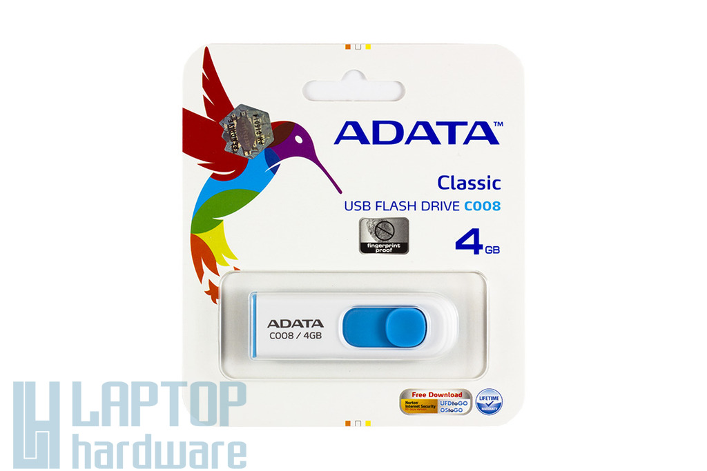 ADATA 4GB kék-fehér pendrive (AC008-4G-RWE)
