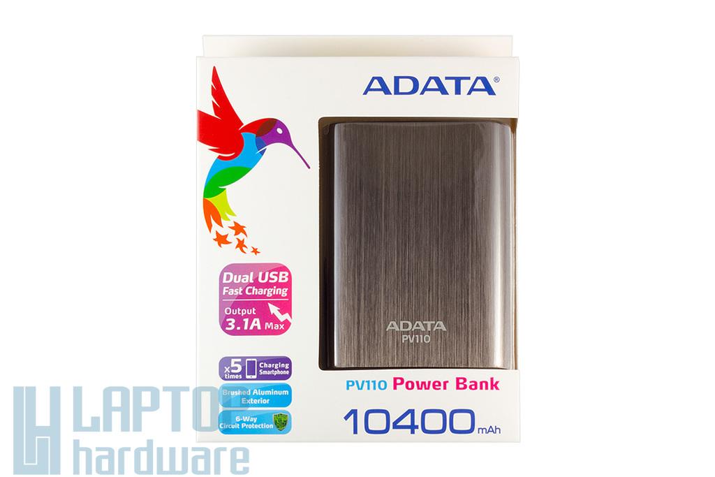 Adata titánium Power Bank 10400mAh tablet, telefon akku/akkumulátor töltő, akku/akkumulátor bank, PV110