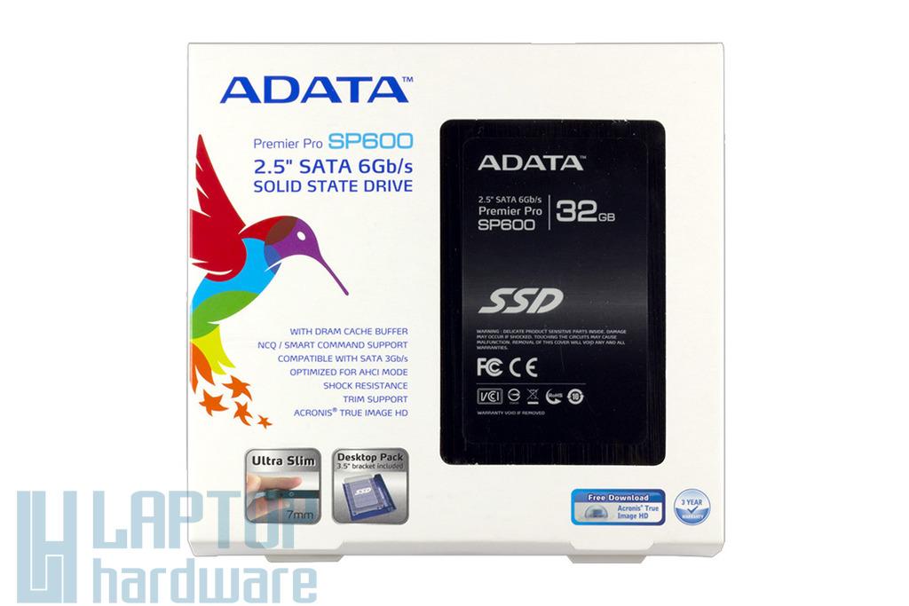 ADATA SP600 32GB SATA3 gyári új SSD meghajtó (ASP600S3-32GM-C)