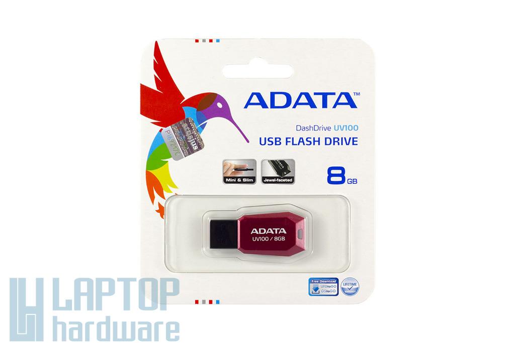 ADATA UV100 8GB piros pendrive, UV100