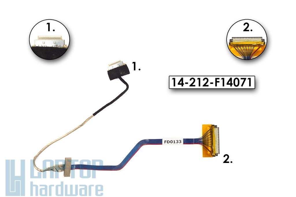 Advent 7096 laptophoz használt LCD kábel, (14-212-F14071)