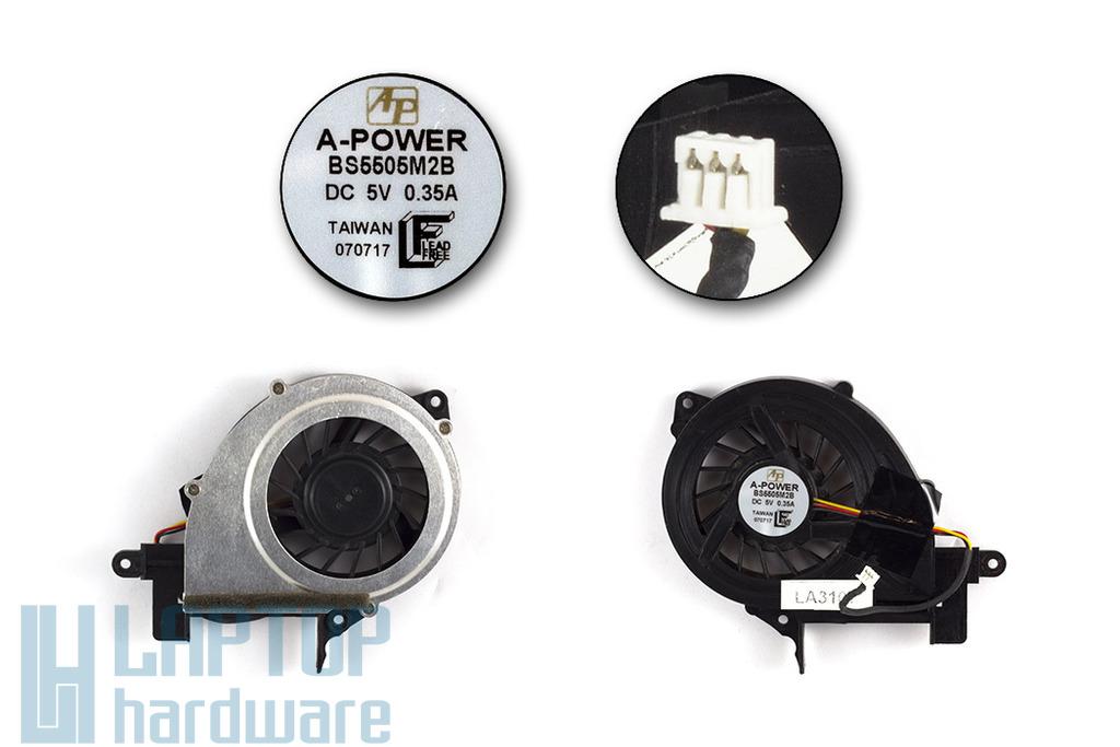 Albacomp Optimo V4 használt laptop hűtő ventilátor (BS5505M2B)