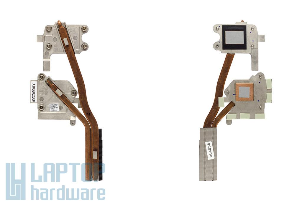 Dell Alienware M14X gyári új laptop hűtőborda, heatpipe (7XJK4, AT0G80020C0)