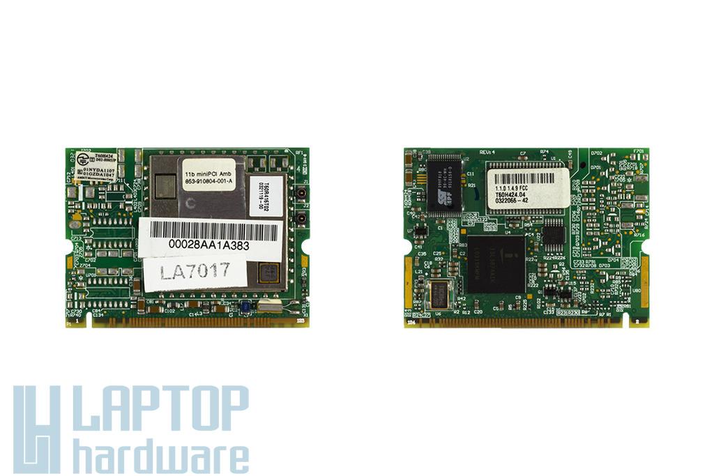 Ambit T60H424 használt Mini PCI laptop Wifi kártya