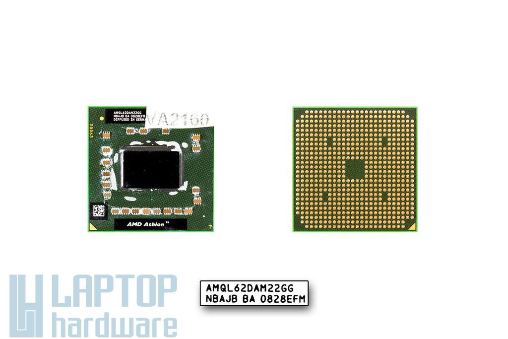 AMD Athlon 64 X2 QL-62 2000MHz használt laptop CPU, AMQL62DAM22GG