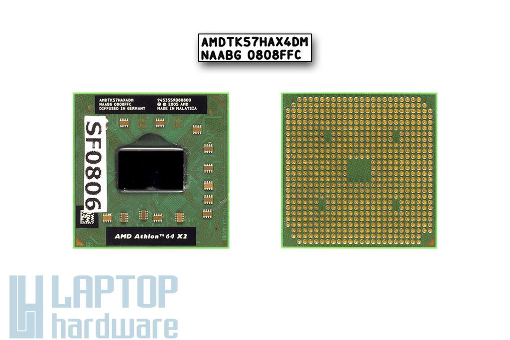 AMD Athlon 64 X2 TK-57 1900MHz használt laptop CPU (AMDTK57HAX4DM)