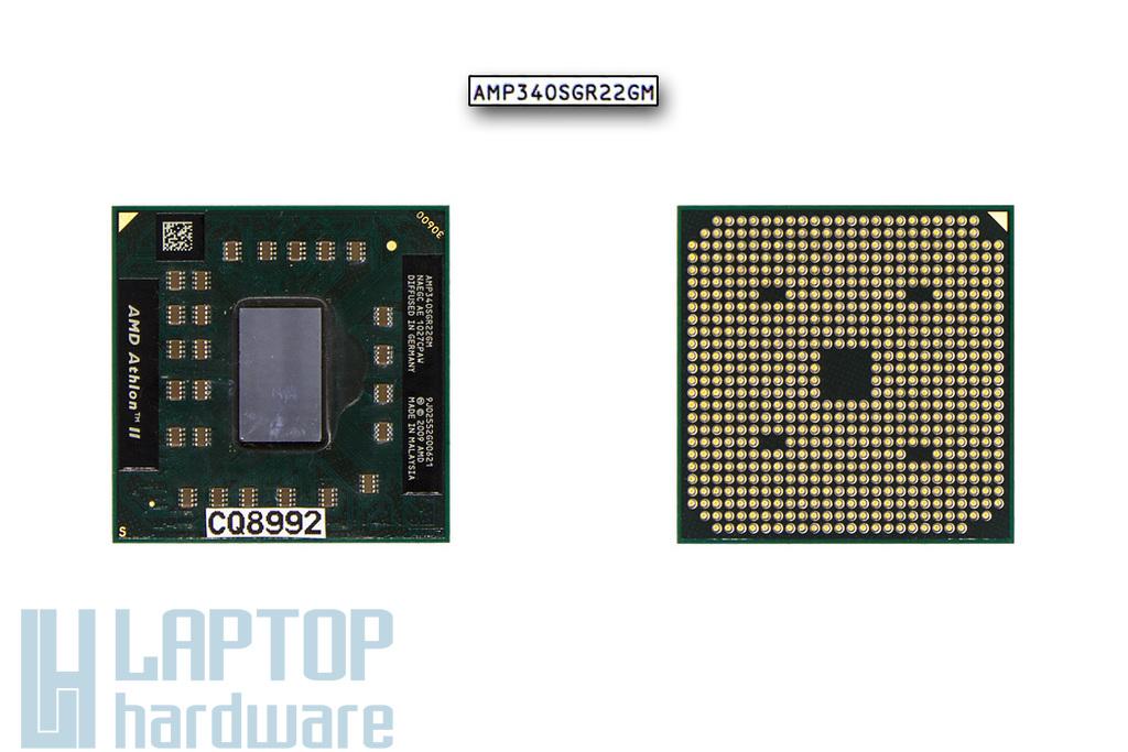 AMD Athlon II P340 2.2GHz (25W TDP) használt laptop CPU (AMP340SGR22GM)