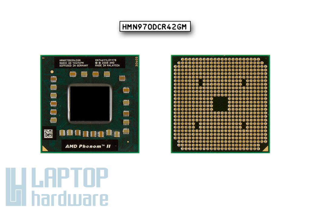 AMD Phenom II Quad-Core Mobile N970 használt 2.2GHz, 35W TDP laptop processzor (HMN970DCR42GM)