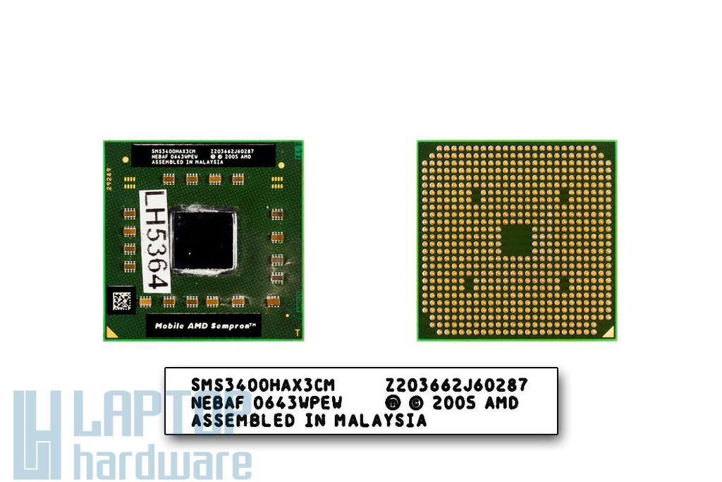 AMD Sempron 3400+ 1800MHz használt laptop CPU (SMS3400HAX3CM)