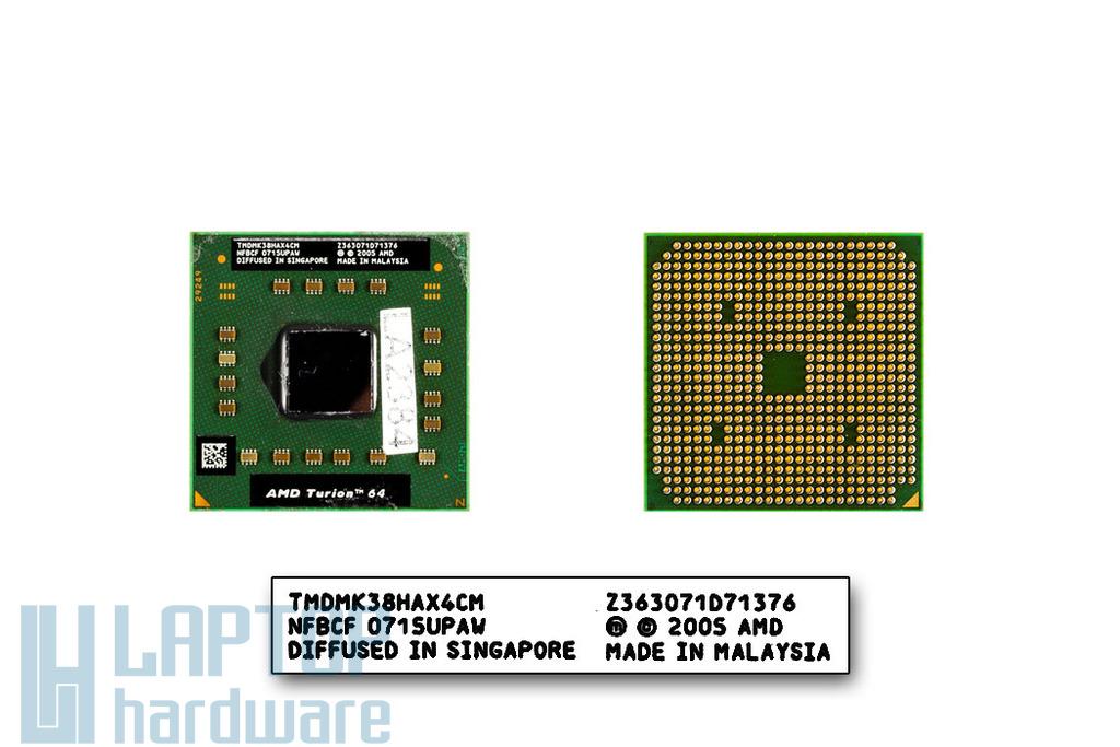 AMD Turion 64 MK-38 2200MHz használt laptop CPU (TMDMK38HAX4CM)