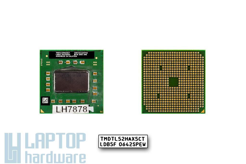 AMD Turion 64 X2 TL-52 1600MHz használt laptop CPU (TMDTL52HAX5CT)