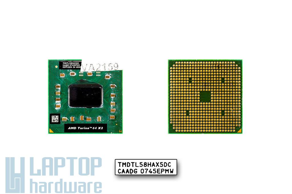 AMD Turion 64 X2 TL-58 1900MHz használt laptop CPU