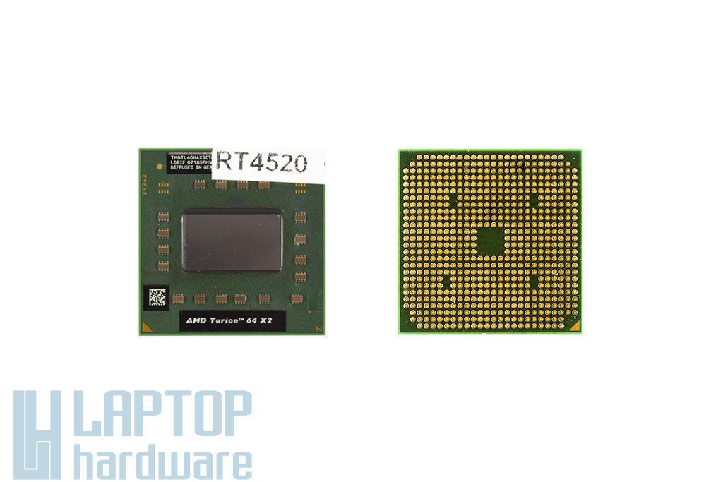 AMD Turion 64 X2 TL-60 (rev F2, TDP 35W) 2000MHz használt laptop CPU