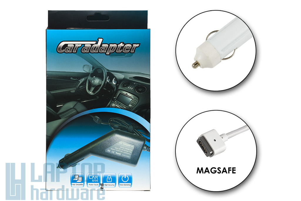 Apple 16.5V 3.65A 60W MagSafe helyettesítő új autós laptop töltő (A1184, MC461Z/A)
