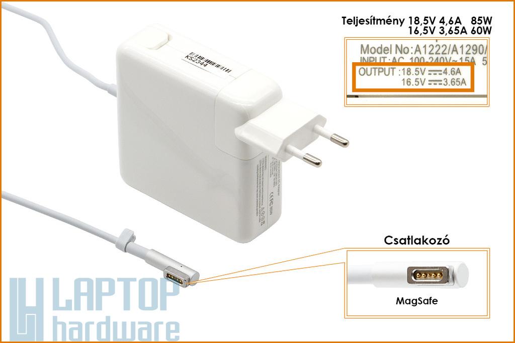 Apple 18.5V 4.6A 85W MagSafe helyettesítő új laptop töltő (A1222, A1172)