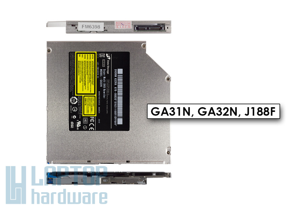 Apple iMac, Alienware M18X slot in SATA DVD író (GA32N)