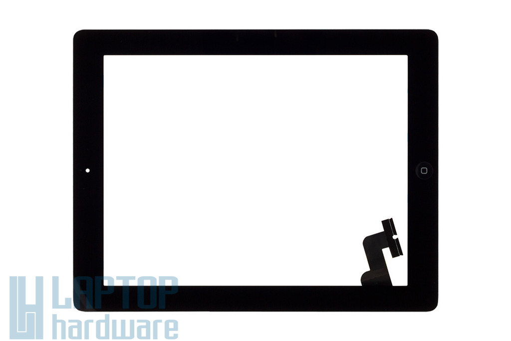 Érintő panel, touchscreen (fekete) Apple iPad 2 A1395, A1396, A1397 tablethez