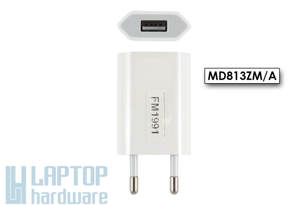 Apple iPhone, iPod 5W gyári új USB töltő (MD813ZM/A, A1400)