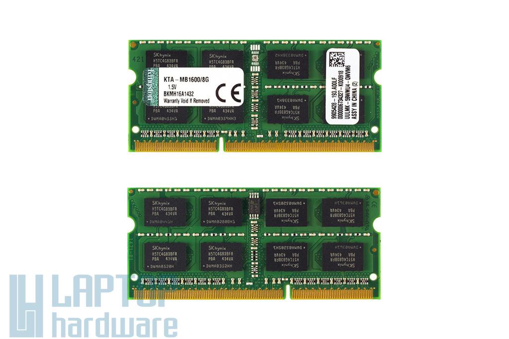 Kingston 8GB DDR3 1600MHz gyári új memória Apple laptopokhoz