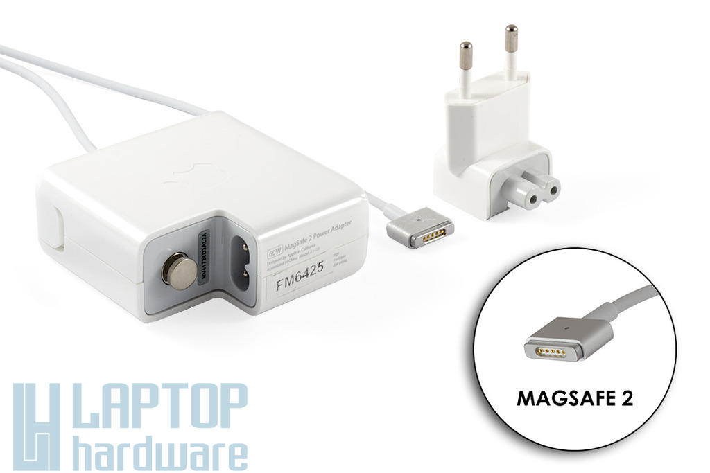 Apple MacBook 16.5V 3.65A 60W MagSafe 2 laptop töltő, A1435
