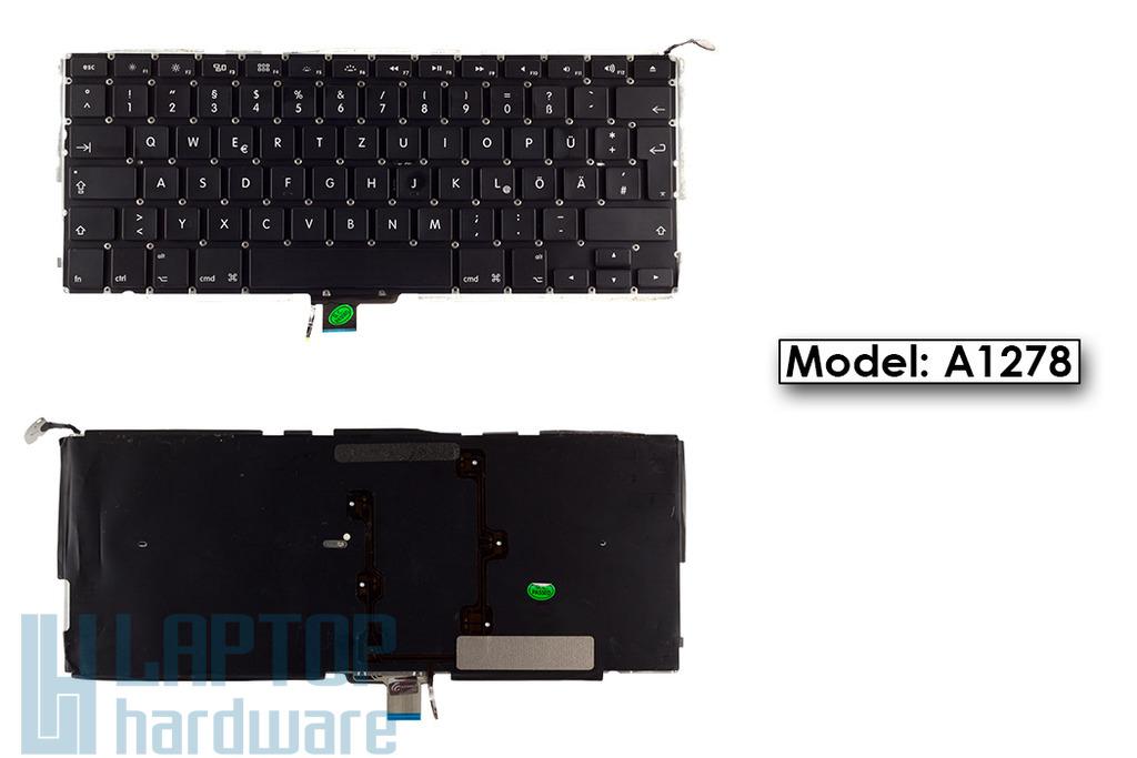 Apple MacBook Pro A1278 gyári új háttér-világításos fekete német laptop billentyűzet