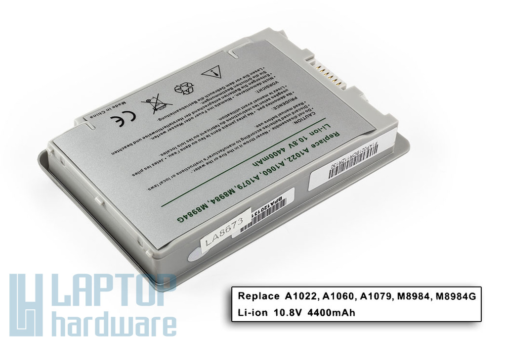 Apple PowerBook G4 12'' A1079 helyettesítő új laptop akku/akkumulátor