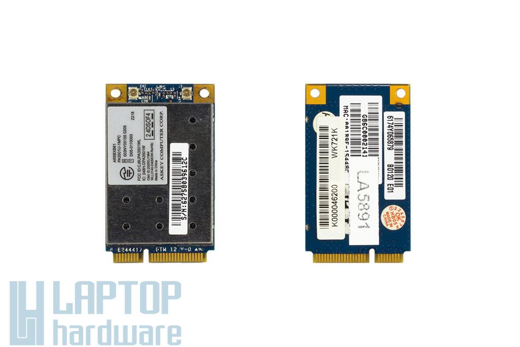 Askey AR9B95 használt Mini PCI-e WiFi kártya Toshiba laptophoz (PA3722U-1MPC)