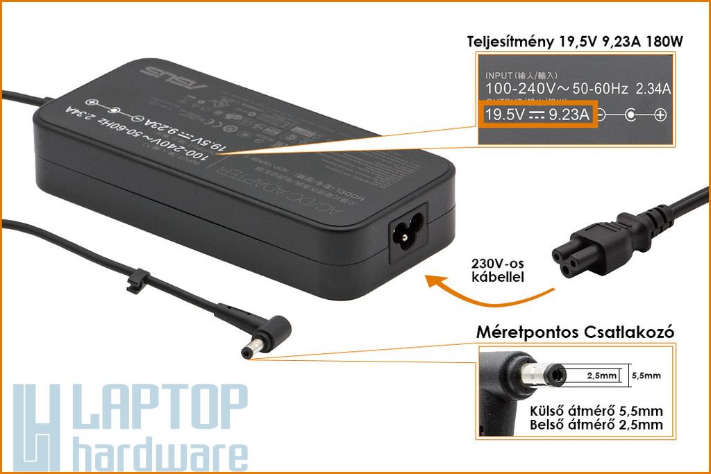 Asus 19.5V 9.23A 180W gyári új laptop töltő (ADP180MB F, 0A001-00260100)