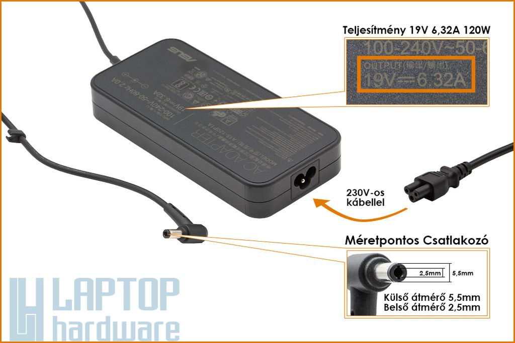 Asus 19V 6.3A 120W gyári új laptop töltő (PA-1121-28, 0A001-00060900, 0A001-00062000)