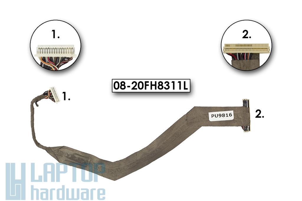 Asus A2H laptophoz használt LCD kijelző kábel (15