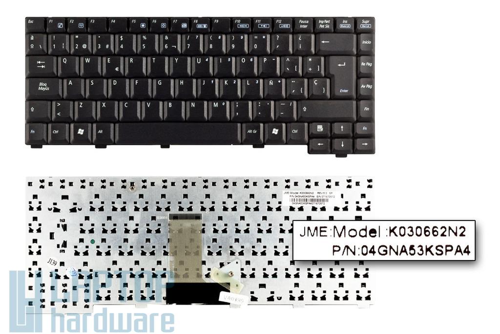 Asus A3, A6, Z92 sorozat gyári új spanyol laptop billentyűzet (K030662N2)