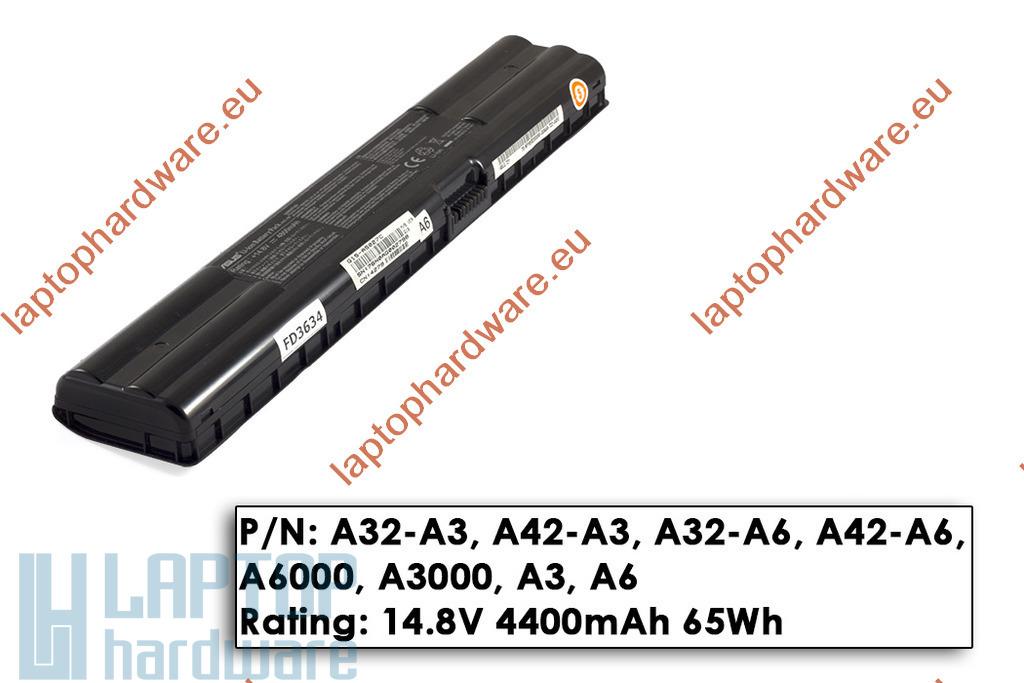 Asus A3000, A6000 8 cellás használt 40%-os laptop akku/akkumulátor (A42-A3)