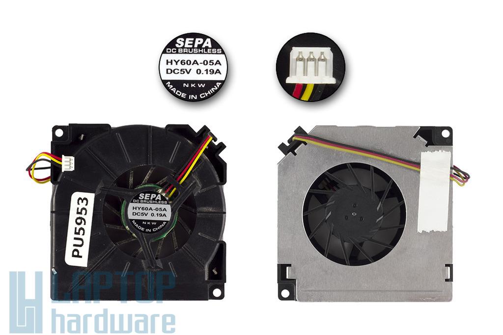 Asus A3000 ,A6000 laptophoz használt CPU hűtő ventilátor (HY60A-05A)