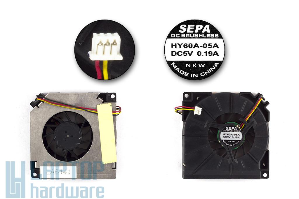 Asus A3000, A6000 laptophoz használt CPU hűtő ventilátor (HY60A-05A)