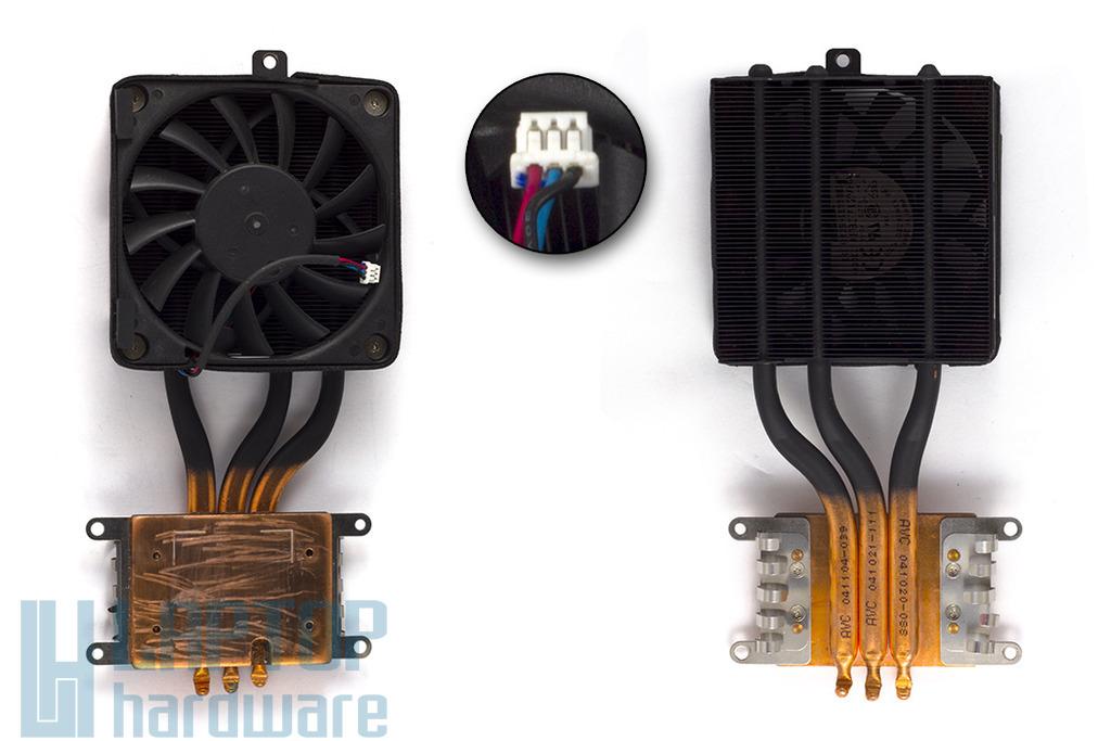 Asus A4000 (A4) használt komplett laptop hűtő ventilátor egység (13-N9X1AM034)