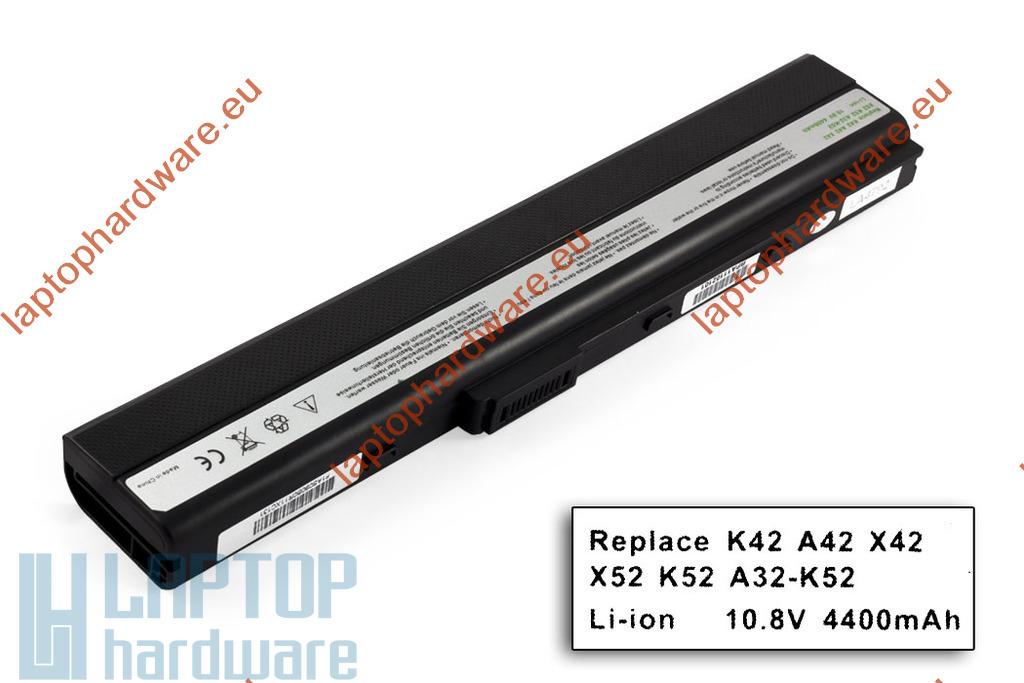 Asus A52, K42, K52, X52 használt 90%-os 6 cellás helyettesítő laptop akku/akkumulátor (A32-K52)