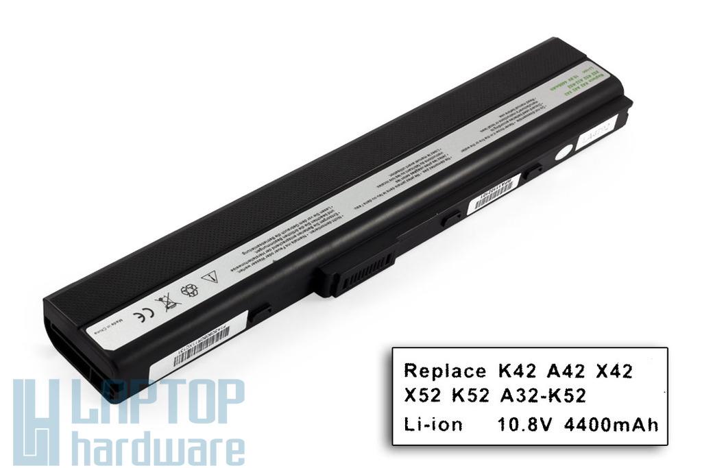 Asus A52, K42, K52, X52 helyettesítő új 6 cellás laptop akku/akkumulátor (A32-K52)