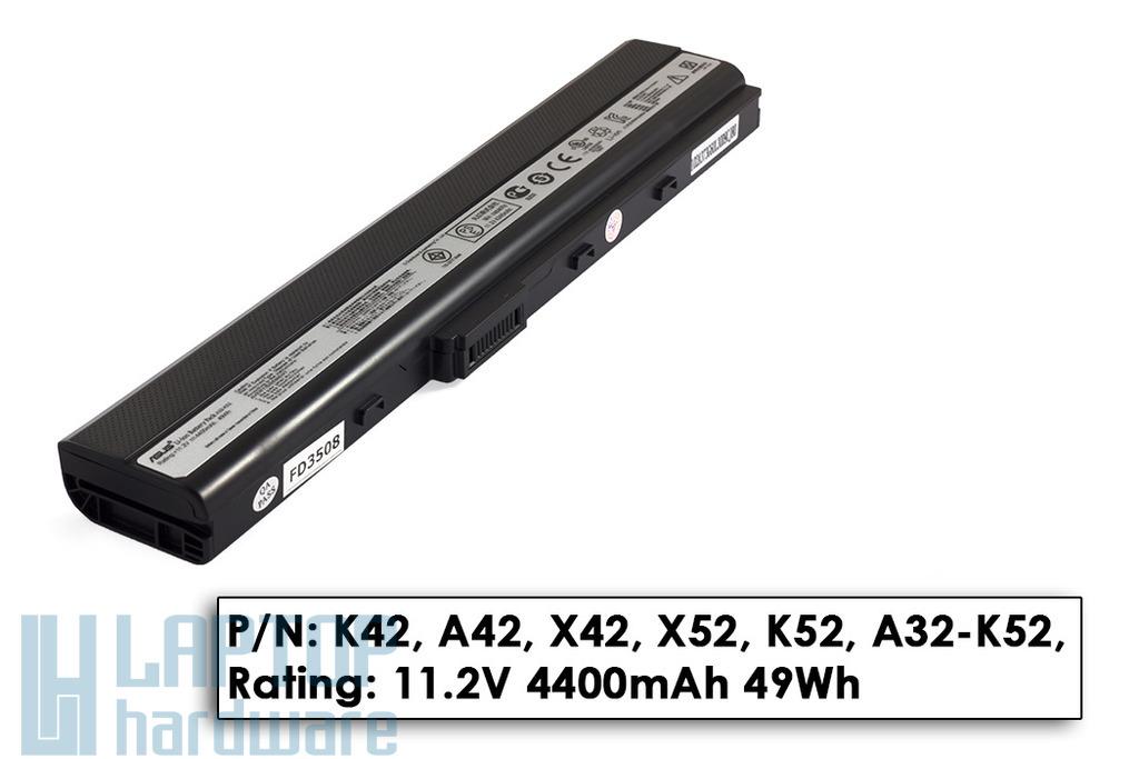 Asus A52, K42, K52, X52 gyári új 6 cellás laptop akku/akkumulátor (A32-K52)