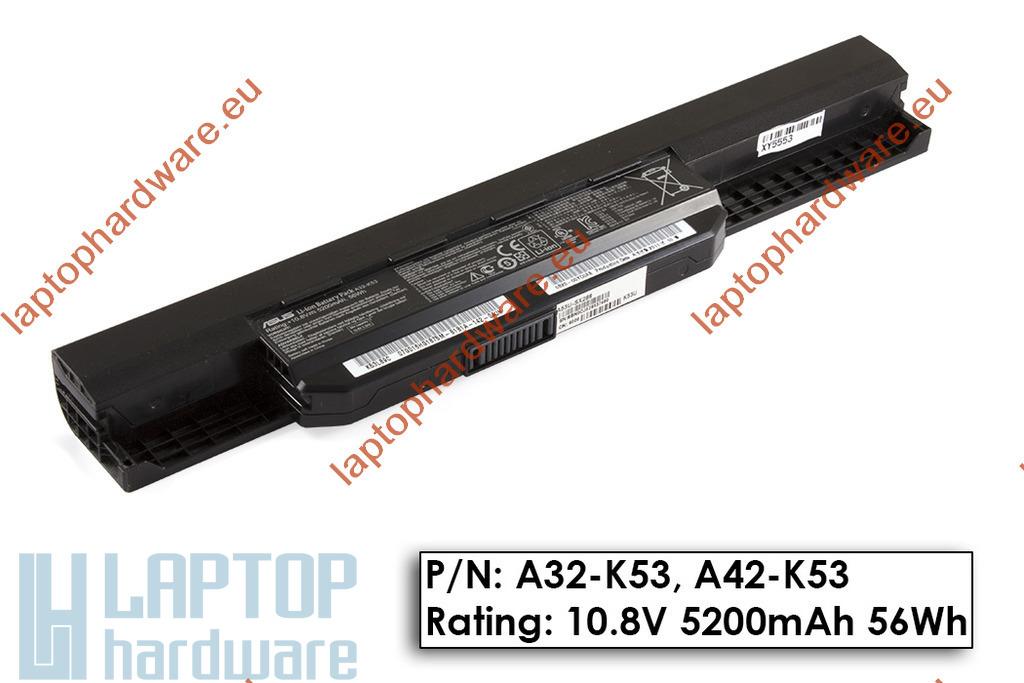 Asus A53, K53, X53 használt gyári 90%-os 6 cellás laptop akku/akkumulátor (A32-K53, A42-K53)