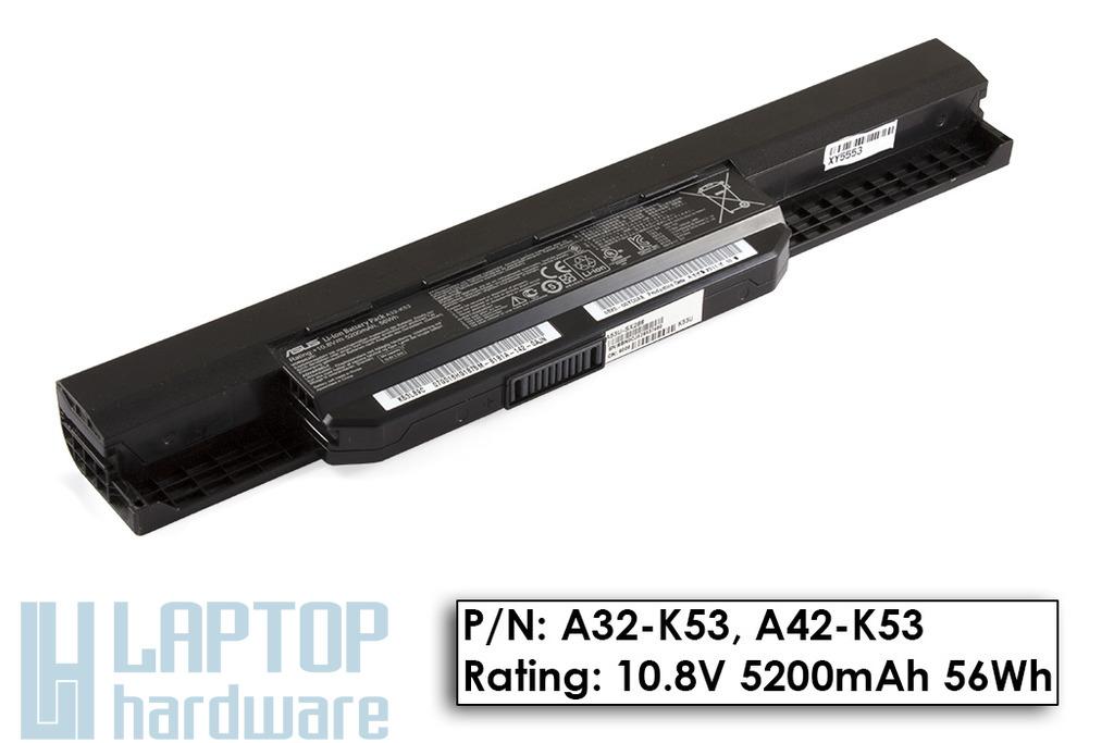 Asus A53, K53, X53 használt 70%-os 6 cellás gyári laptop akku/akkumulátor (A32-K53, A42-K53)