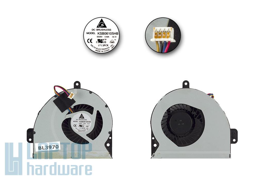 ASUS A53E, K53E, X53E használt laptop hűtő ventilátor (KSB06105HB)