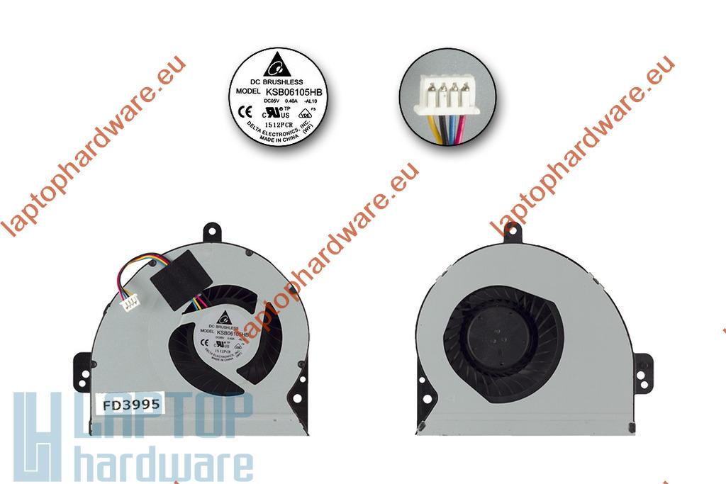 Asus A54H, X54C, X54H, X54L használt laptop hűtő ventilátor, KSB06105HB-BD93