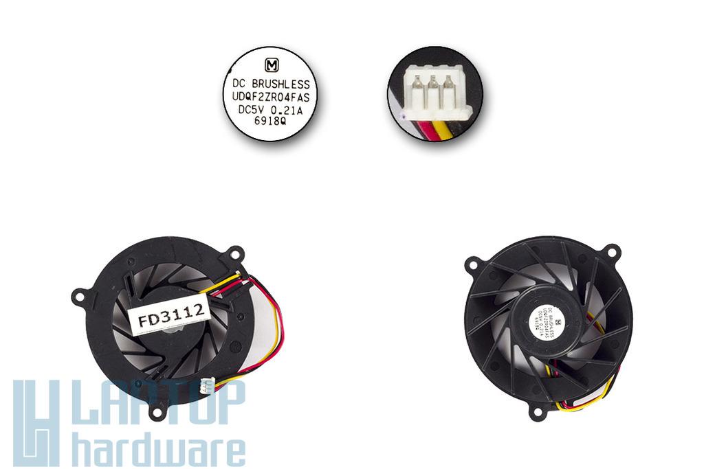 Asus A6, A8, Z99 laptop hűtő ventilátor, UDQF2ZR04FAS