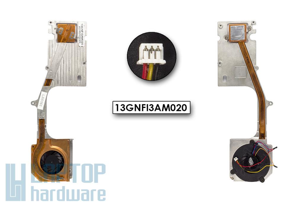 Asus A6 sorozat használt komplett laptop hűtő ventilátor egység (13GNFI3AM020)