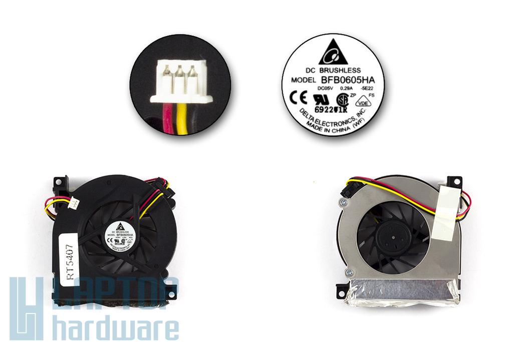Asus A6F, A6M, A6R használt laptop hűtő ventilátor (BFB0605HA)