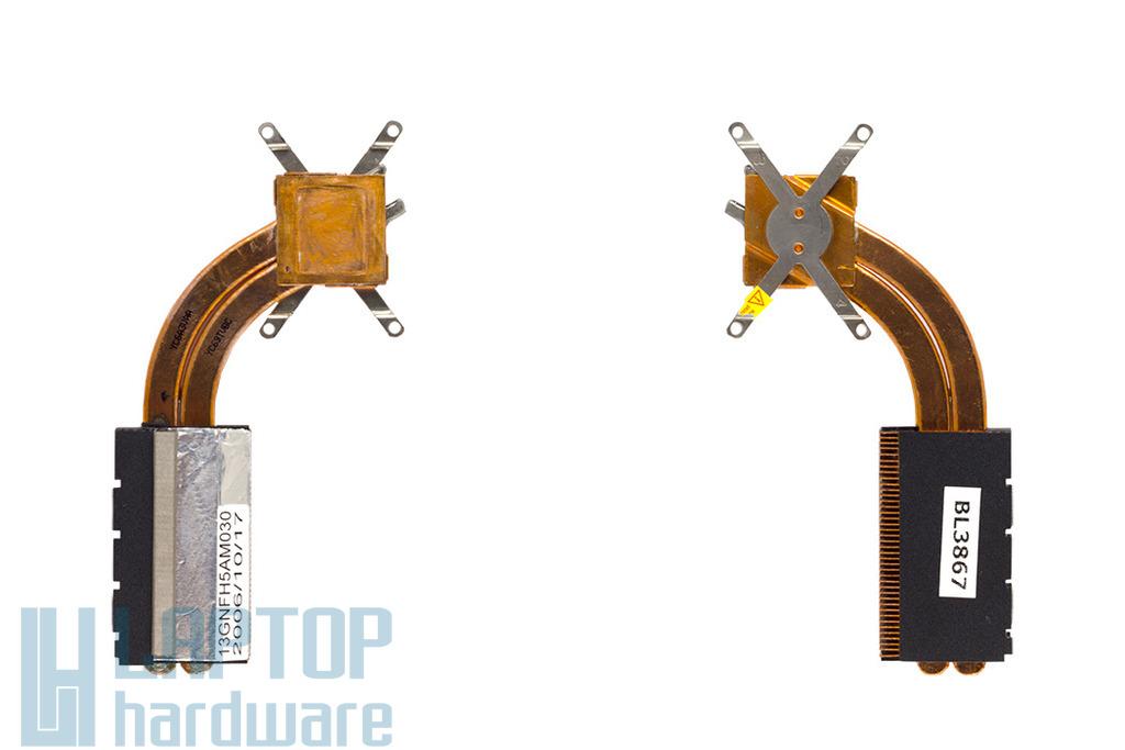 Asus A6V, Z9200VC laptophoz használt Processzor hőelvezető cső (13-NDK1AM031)