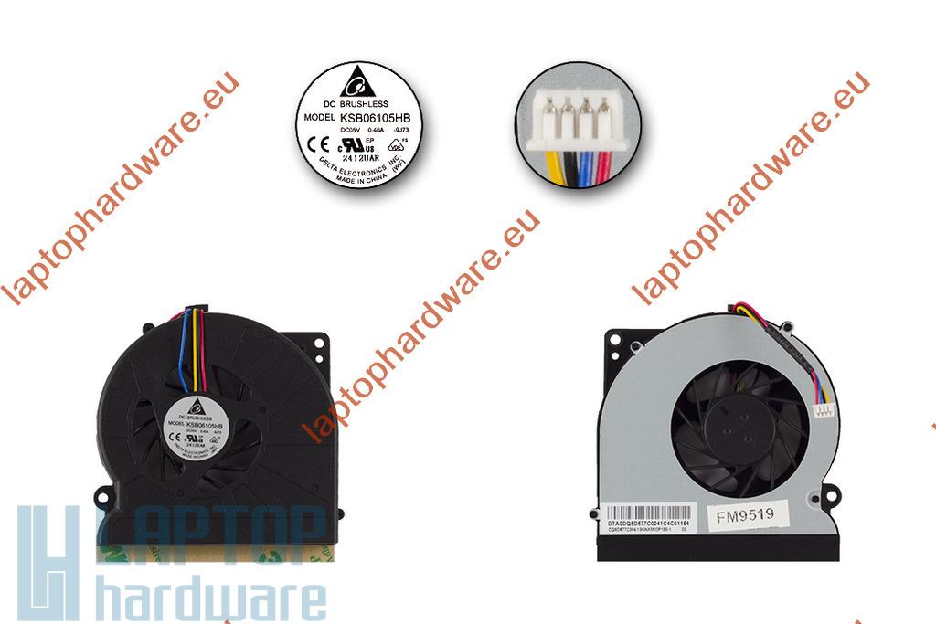 Asus A72, K52, K72 használt laptop hűtő ventilátor (KSB06105HB-9J73)