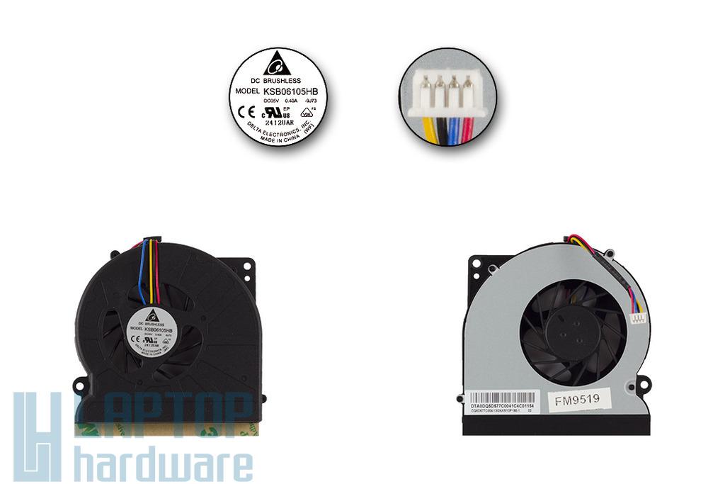Asus A72, K52, K72 gyári új laptop hűtő ventilátor (KSB06105HB)